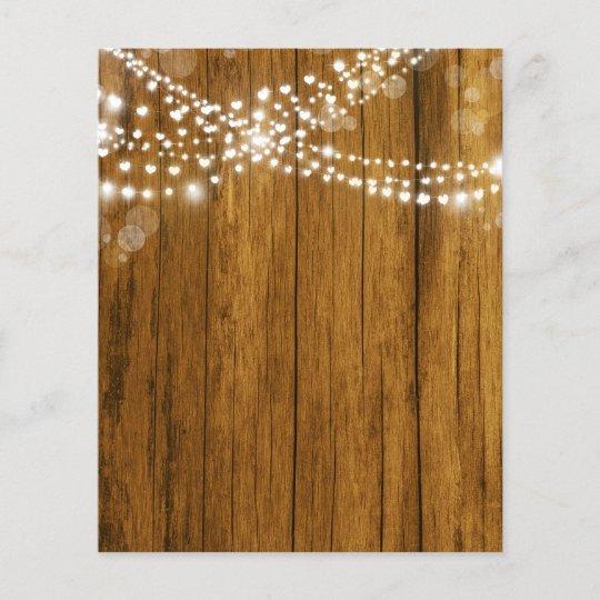 Bokeh Heart Lights Wood Grain Scrapbook Paper
