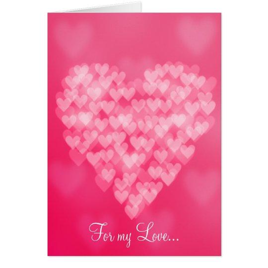 Bokeh Heart Valentine's Day Card