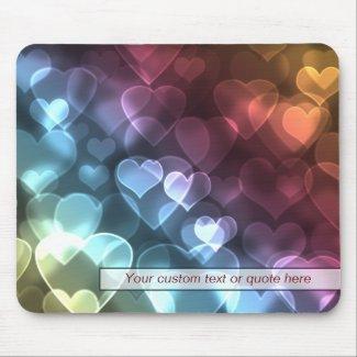 Bokeh Hearts Mousepad