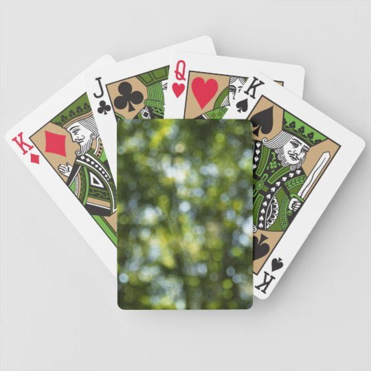 Bokeh in Spring Bicycle Playing Cards