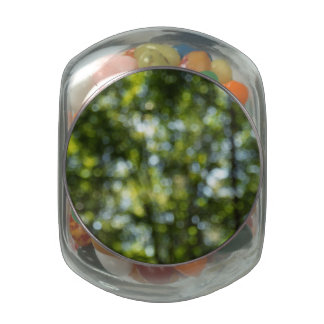 Bokeh in Spring Glass Candy Jars