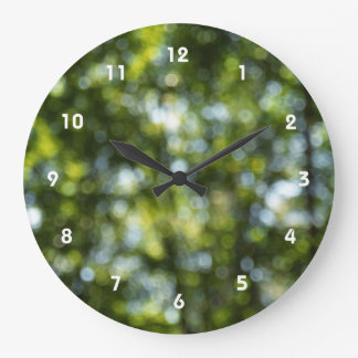Bokeh in Spring Large Clock