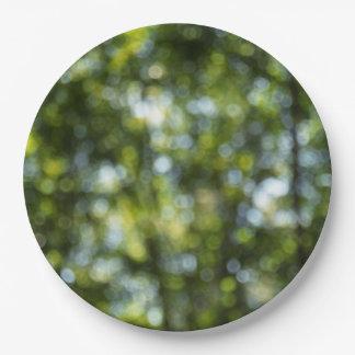 Bokeh in Spring Paper Plate