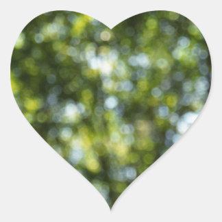 Bokeh in Spring Heart Stickers