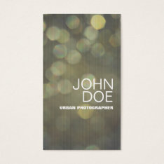 Bokeh Lights Business Card at Zazzle