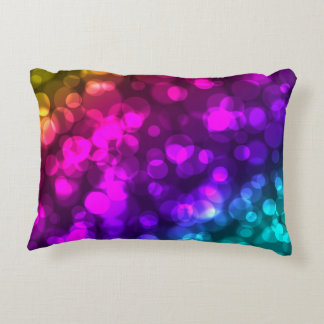 Bokeh Lights Colourful Bright Bold 12320 Accent Pillow
