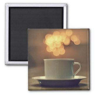 Bokeh Lights Tea Magnet
