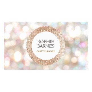 Bokeh lindo y planificador de eventos color de tarjetas de visita