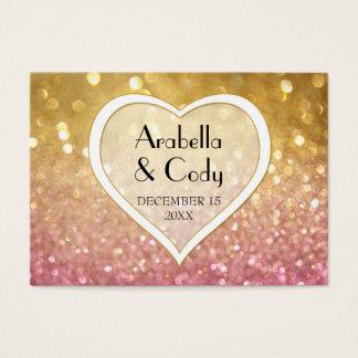 Bokeh Movie Premier Ticket Style Gold Pink Sparkle