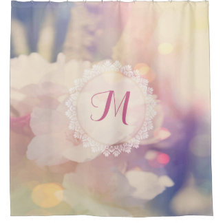 Bokeh Pink Yellow Fine Floral Background Shower Curtain