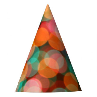 Bokeh Primary Red Green Christmas Party Supplies Party Hat