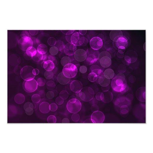 Bokeh púrpura impresion fotografica