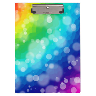 Bokeh Rainbow Clipboard