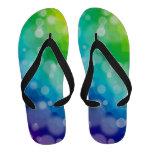 Bokeh Rainbow Flip-Flops