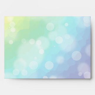 Bokeh Rainbow Pattern Envelope