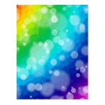 Bokeh Rainbow Pattern Postcards