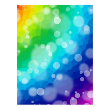 Bokeh Rainbow Pattern Postcards
