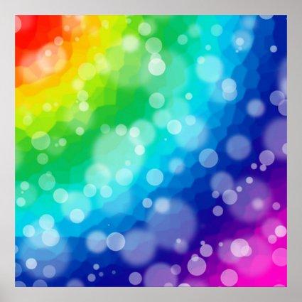 Bokeh Rainbow Pattern Poster