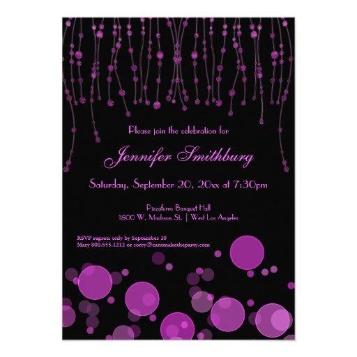 Bokeh rosado elegante enciende a la fiesta de cump invitacion personal