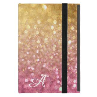 Bokeh Shimmering Glitter Look Gold Pink Sparkle iPad Mini Case