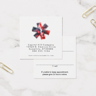 bokeh star of life heart appointment reminder square business card