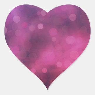 Bokeh Heart Stickers