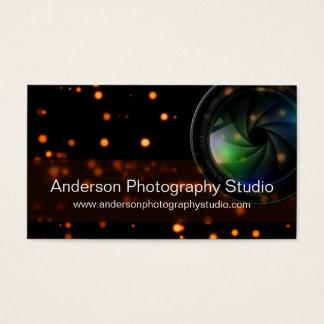 Bokeh & Zoom Lens Photographer Business Card D14