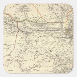 Bokhara, Cabool, &c de Beloochistan Pegatina Cuadrada
