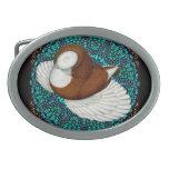 Bokhara Pigeon Fancy Belt Buckle