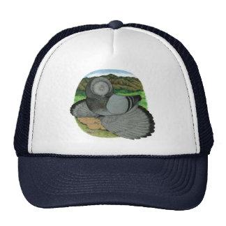 Bokhara Trumpeter:  Blue Trucker Hat