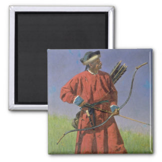 Bokharan Soldier , 1873 2 Inch Square Magnet