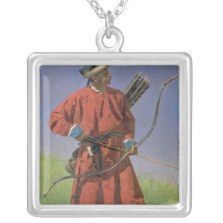 Bokharan Soldier , 1873 Silver Plated Necklace