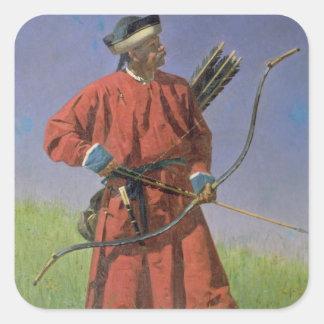 Bokharan Soldier , 1873 Square Sticker