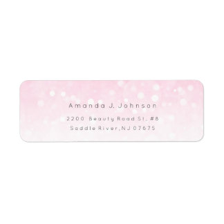 Bokhe Lights Delicate Pink Ombre Adress Label