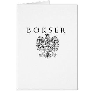Bokser Polish Eagle Black / White Card