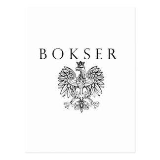 Bokser Polish Eagle Black / White Postcard