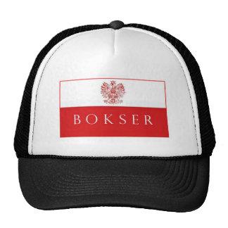 Bokser w/Polish Flag/Eagle Trucker Hat