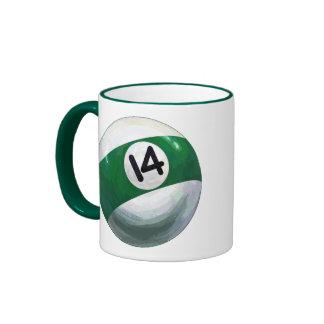 Bola 14 taza de dos colores