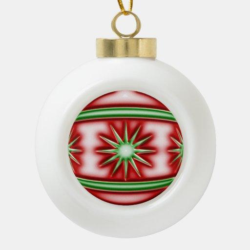 Bola #1 del navidad adorno de cerámica en forma de bola