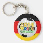 Bola 2014 de los campeones del mundo Alemania Llavero Redondo Tipo Pin