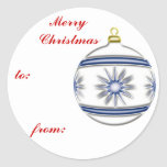 Bola #2 del navidad pegatina redonda