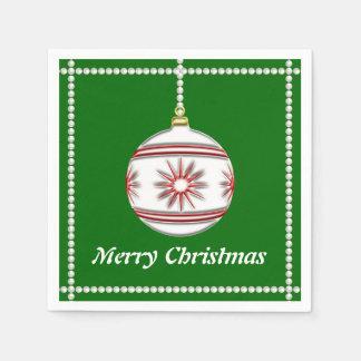 Bola #3 del navidad servilletas de papel
