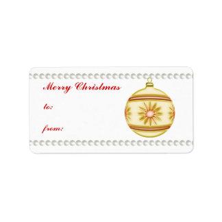 Bola #4 del navidad etiquetas de dirección