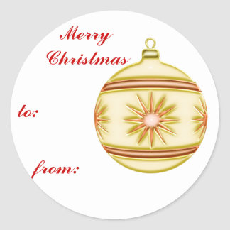 Bola #4 del navidad pegatina redonda