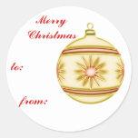 Bola #4 del navidad pegatinas redondas