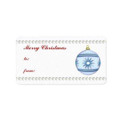 Bola #5 del navidad etiqueta de dirección