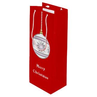 Bola #7 del navidad bolsa de regalo para vino