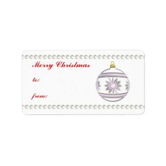 Bola #7 del navidad etiquetas de dirección