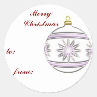 Bola #7 del navidad pegatina redonda
