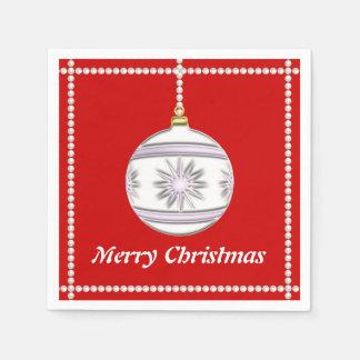 Bola #7 del navidad servilletas de papel